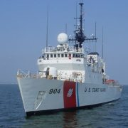 COAST GUARD SHIP HEAD ON